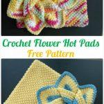 40 Crochet Pot Holder Hotpad Free Patterns