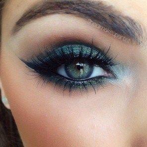 41 Entzückendes Augen-Makeup Sieht nach grünen Augen
