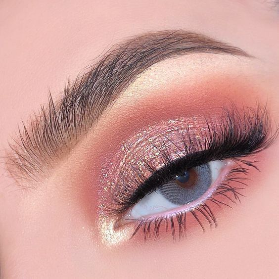 41 Top Rose Gold Makeup Ideas That Look Like a Goddess Rose Gold Eyes …