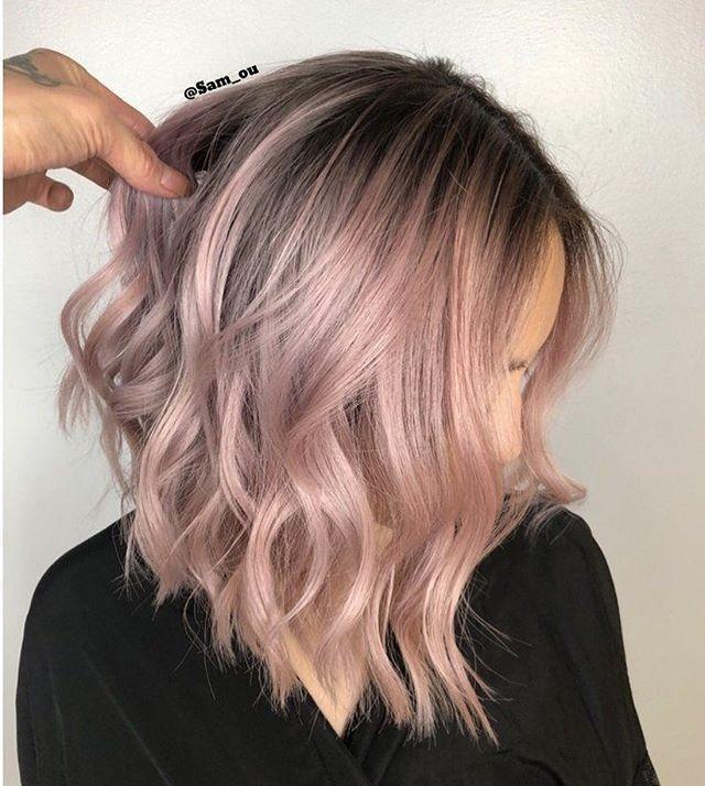 42 Trendy Rose Gold Blonde Haarfarbe Ideen – Rose Gold Haar Highlights, Rose Go … –  #blond…