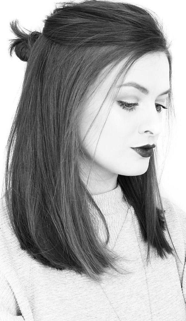 43 Gerade mittellange Frisuren für Frauen, die Sie gerne ausprobieren werden