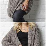 45 Crochet Women Sweater Coat Cardigan Free Patterns [Open Front]
