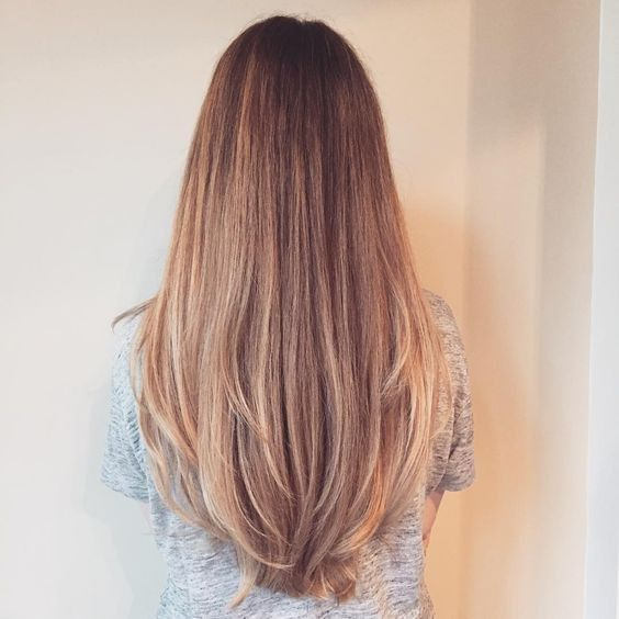 45 Süße geschichtete Frisuren und Schnitte für langes Haar