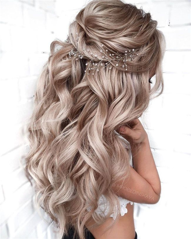 50 Chic and Elegant Wedding Hairstyles Ideas for Bridal 2019