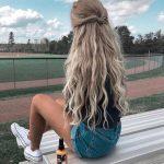 54 süße und einfache lange Frisuren für die Schule für Herbst und Winter - #...