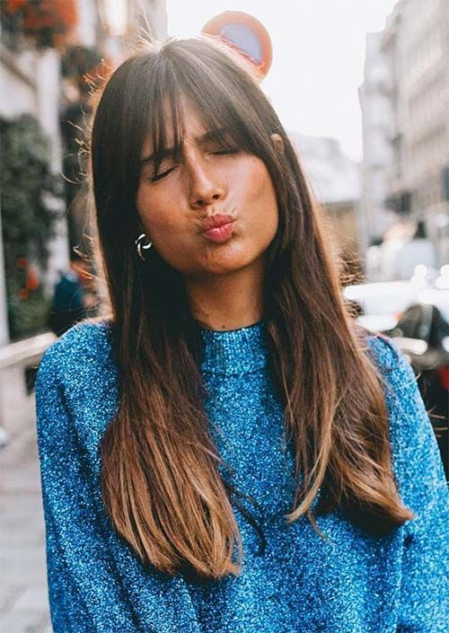 55 Dope Long Haircuts with Bangs: Tips for Wearing Fringe Hairstyles