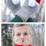6 Christmas Fingerless Mittens Free Crochet Patterns & Paid - DIY Magazine