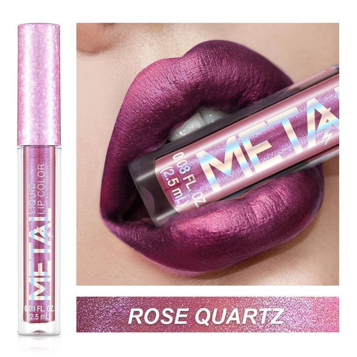 6 Farben Make-up Matt Metallic Glitter Lipgloss Langlebig Wasserdichter Lippens …