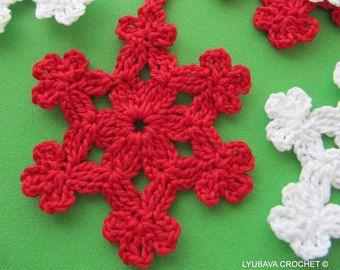6 flocons de neige de Noel