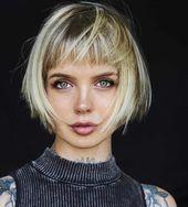 60 kurze Frisuren für runde Gesichter 2018-2019   – For round face – #Face #Fri…