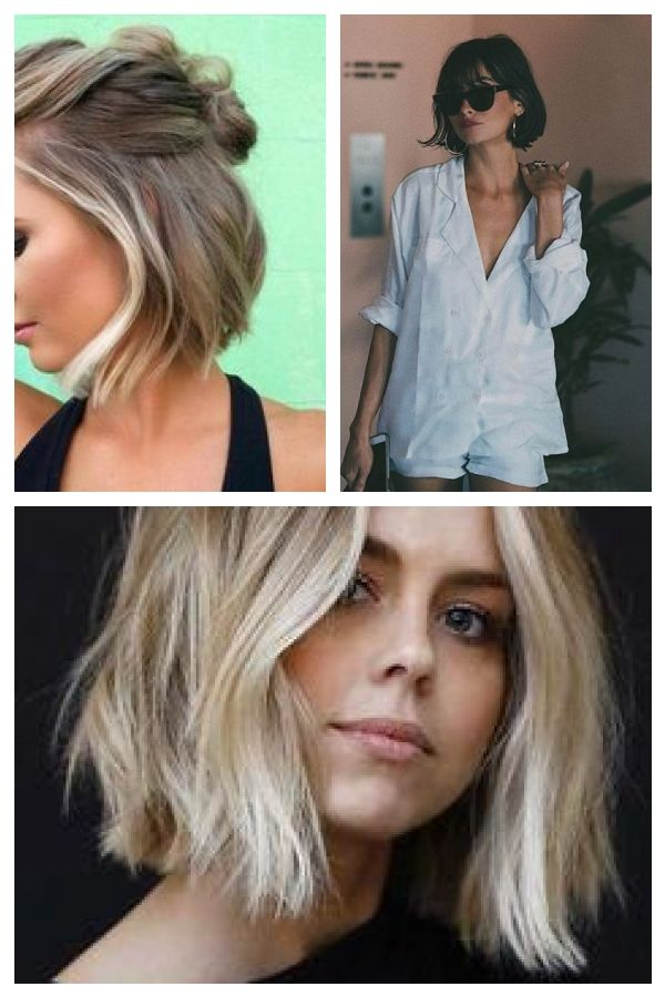 60 kurze Frisuren für runde Gesichter 2018-2019 #Hair #shorthair #shorthaircut …