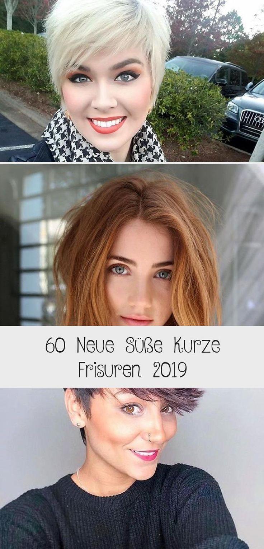 60 neue süße kurze Frisuren 2019   – Haar – #frisuren #Haar #kurze #Neue #sü…
