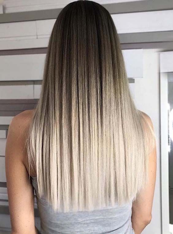 64 Stylish Ombre Straight Hair Styles