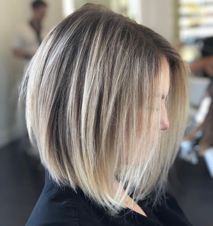70 perfekte mittellange Frisuren für dünnes Haar