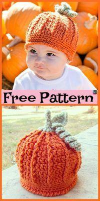 8 Cutest Crochet Pumpkin Hat Free Patterns