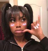 8 schnelle glatte Haare weben niedlich zurück zu Schule Frisuren für schwarze