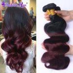 8A Brazilian Virgin Hair Body Wave 4pcs Ombre Hair ...- 8A Brasilianische Reine ...