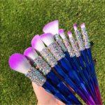 9-Piece Unicorn Crystallized VEGAN Makeup Brush Set Set of 9 Different ...  #9Pi...