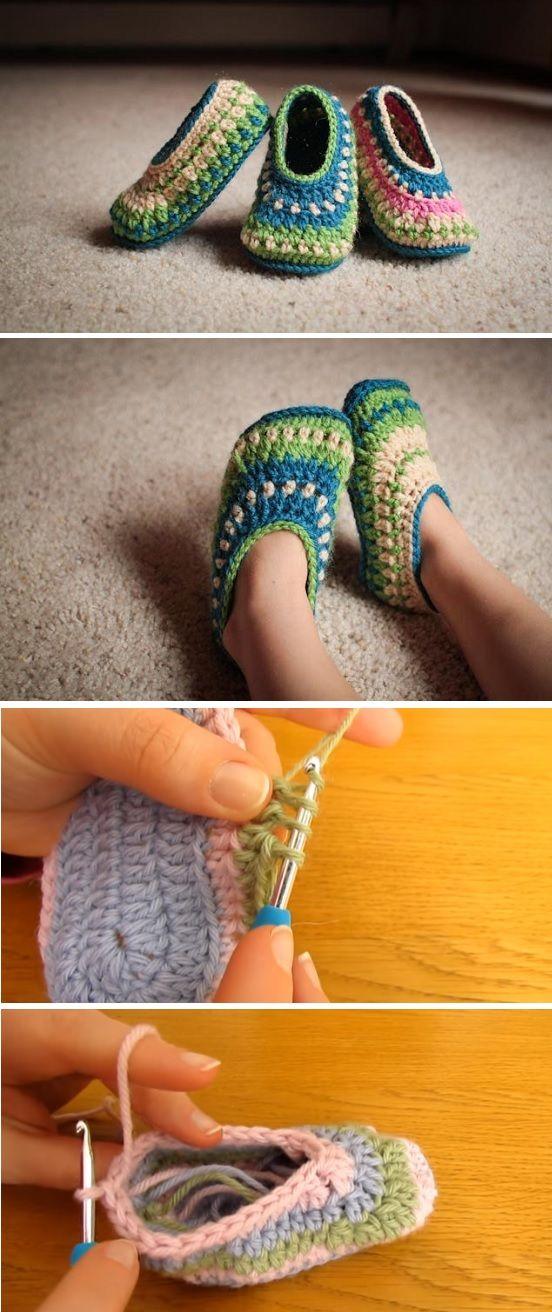 Crochet Galilee Slippers in All Sizes