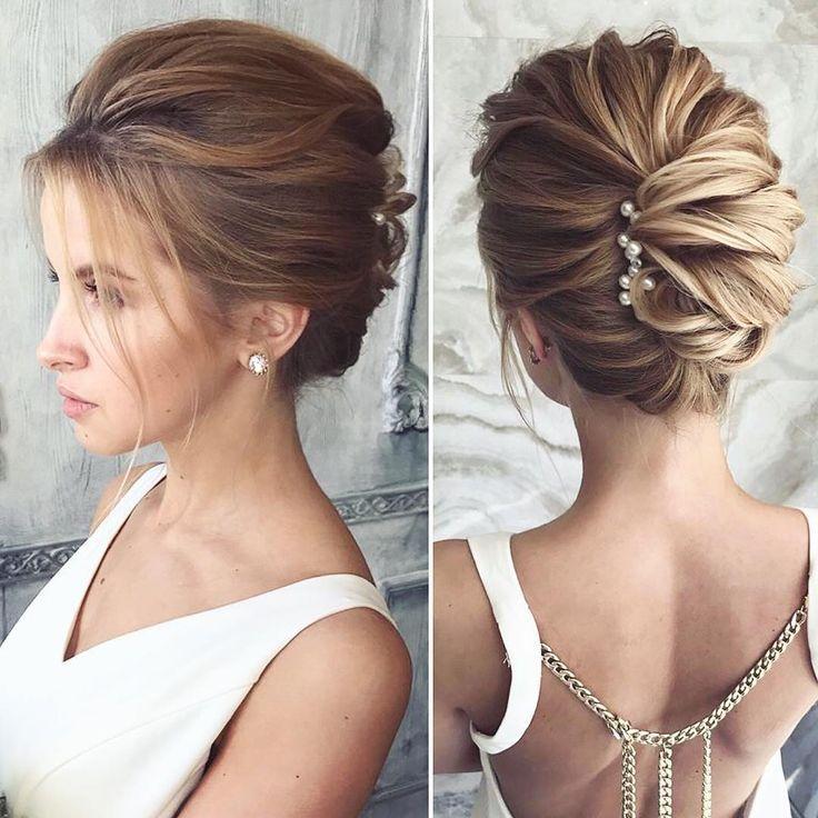 @lenabogucharskaya . Such a sleek modern #hairstyle #weddinghair #bridalhair #b