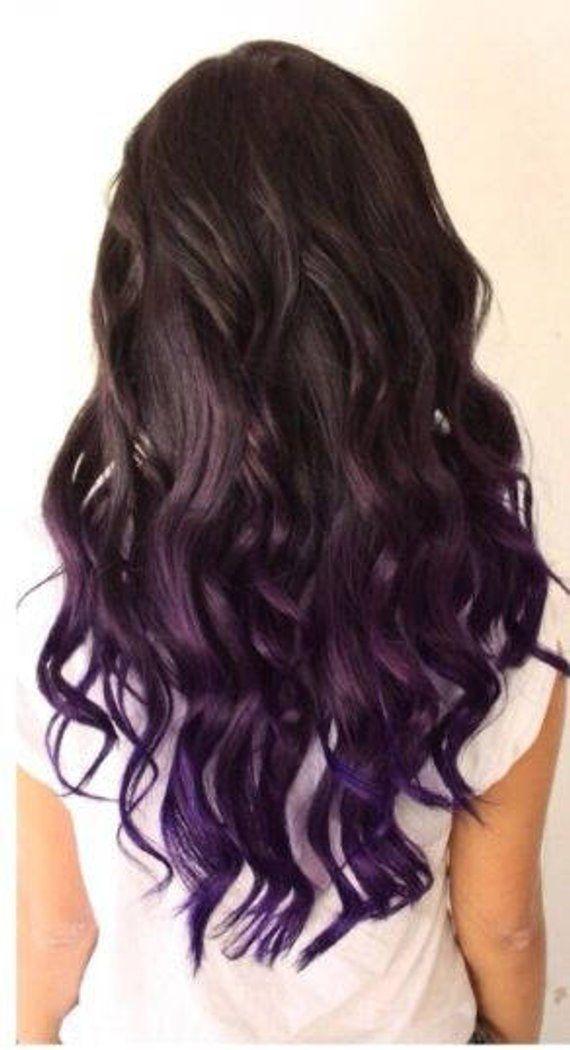 AMETHYST PURPLE UNICORN Hair Extensions, Mermaid Hair Extensions, Human Hair Extensions, Colored Hair Extensions, Clip In Hair Extensions