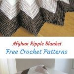 Afghan Ripple Blanket Free Crochet Pattern #crochet #crafts #homedecor #style #b...