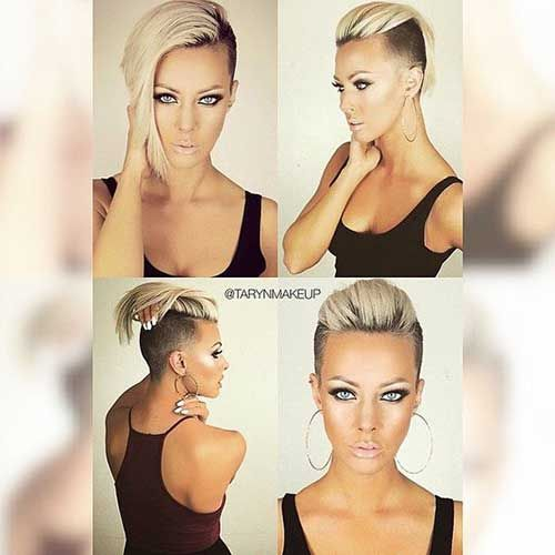Amazing Short Side Haircuts for Young Ladies