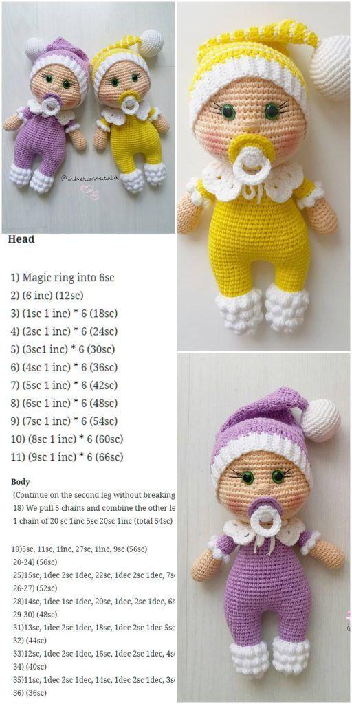 Amigurumi Doll Pacifier Baby Free Crochet Pattern – Crochet.msa.plus – Amigurumi Patterns And Tutorials
