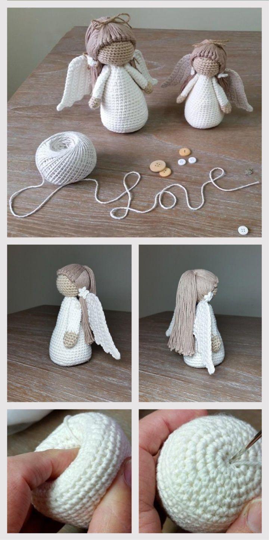 Amigurumi Puppe Angel Tutorial – Stricken – #Amigurumi #Angel #Puppe #Stricken #Tutorial – Anna Mor