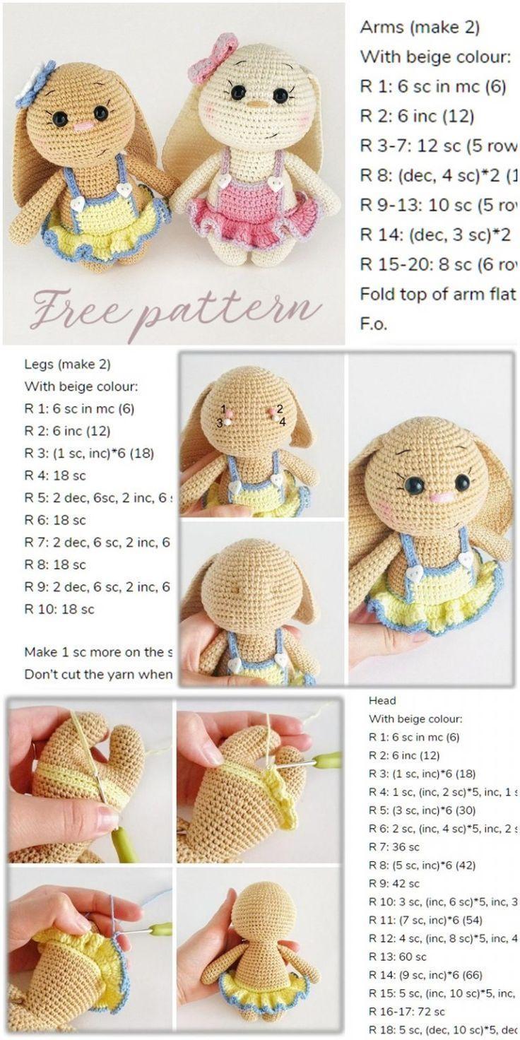 Amigurumi Spring Bunny in Dress Free Crochet Pattern – Amigurumi Crochet   –  …