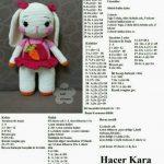 Amigurumi dress knitted toy rabbit models told construction #amigurumi #amigurumipatrones #co...