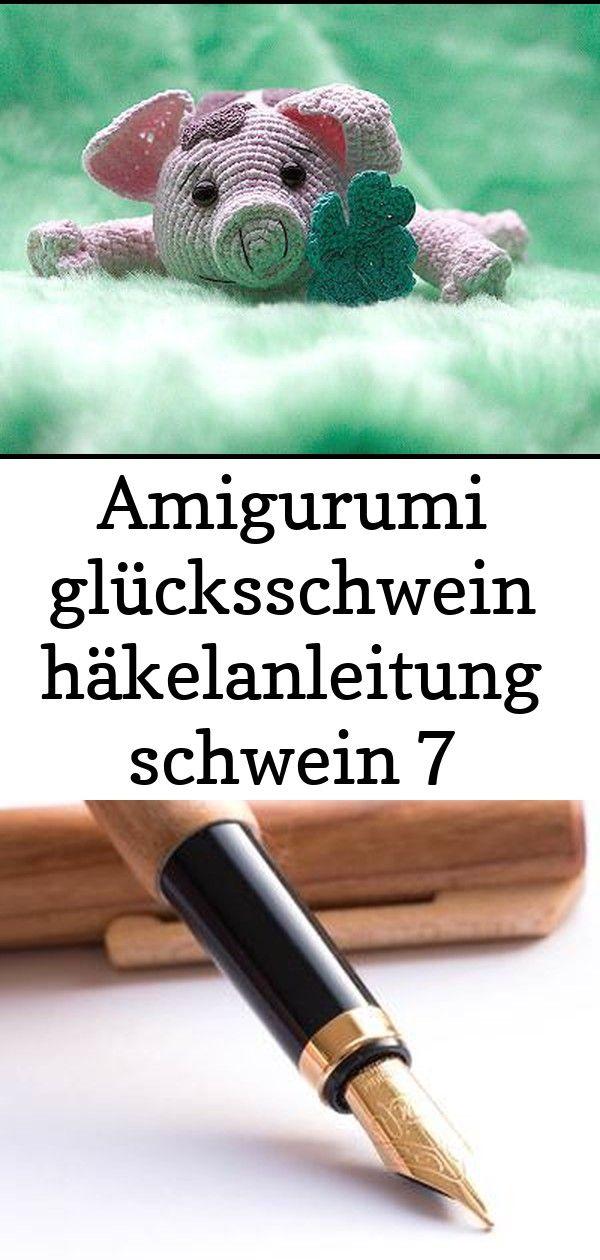 Amigurumi glücksschwein häkelanleitung schwein 7