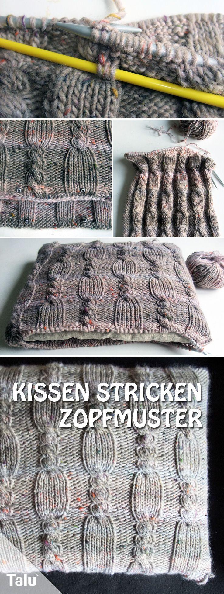 #Anleitung #dicke #für #Kissen #mit #Stricken