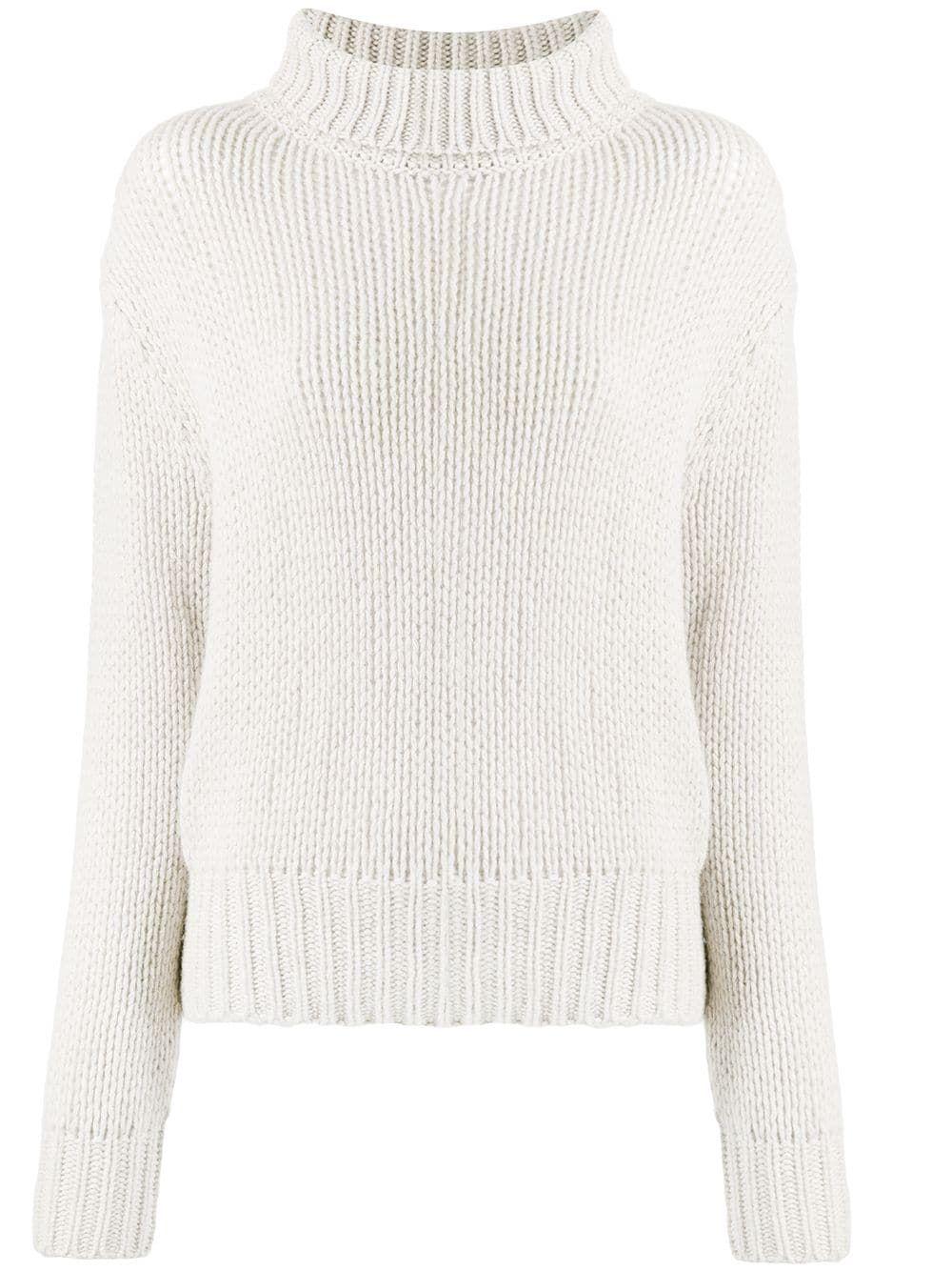 Aragona chunky knit jumper – White