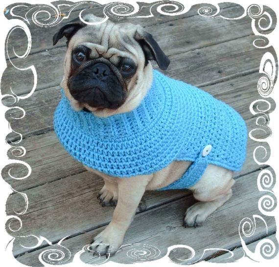 Articoli simili a Dog Sweater Crochet Pattern – Puppy Crochet Sweater Pattern – …