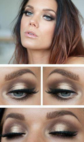 Augen wunderschöne Lidschatten Lippenstift blaue Augen – Best Makeup