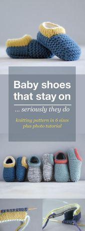 BABY-SCHUH-MUSTER / Baby-Hausschuh / Bootie-Muster plus Fototutorial. Tolle gest…