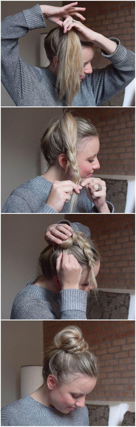 BRUN: Half Braid, Half Bun – Halb Dutt, Halb Geflochten – braids.life