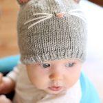 Baby Cat Hat KNITTING PATTERN  //  Cat Ear Hat Pattern   //   Baby Knit Hat Pattern with Cat Ears