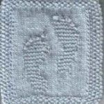 Baby Feet Cloth   -  easy knit beginner's Stitches    #Baby #beginners #cloth #E...