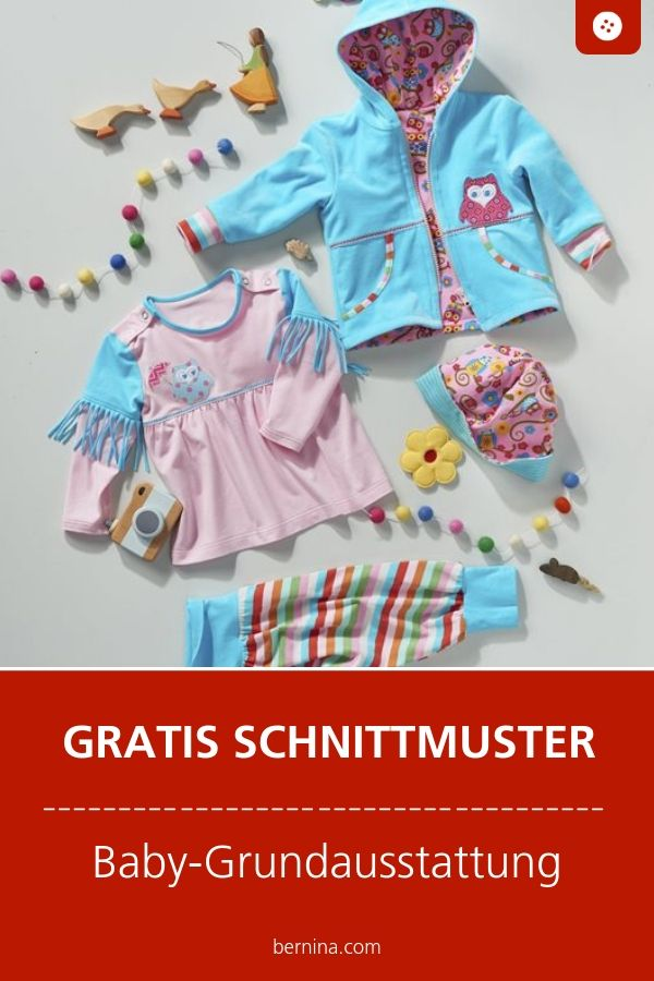 Baby Grundausstattung Schnittmuster Freebie