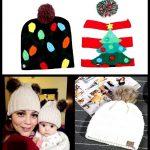 Baby Hut Pompon Winter Schal Kinder Hut gestrickte süße Mütze für Mädchen Jungen lässig einfa...