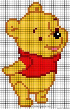 Baby Knitting Patterns Winnie the Pooh – Template for # Ironing Beads … – #Kni…