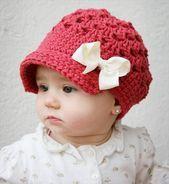 Baby # Mädchen # Häkeln Hut # Muster – 10 einfache Häkeln Hut Muster #einfa…