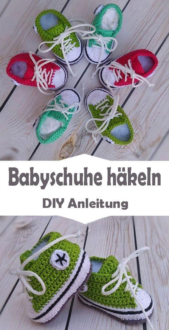 Babyschuhe häkeln – kostenlose Anleitung für Anfänger