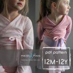 Ballet Sweater pattern and tutorial 12m - 12y PDF pattern  girl modern shrug, wrap bolero dance
