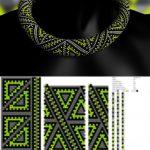 Beading pattern and tutorials, bead crochet neckalce pattern