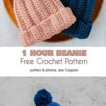Beanies in Under an Hour Free Crochet Patterns #crochethats 1 Hour Beanie Free C...