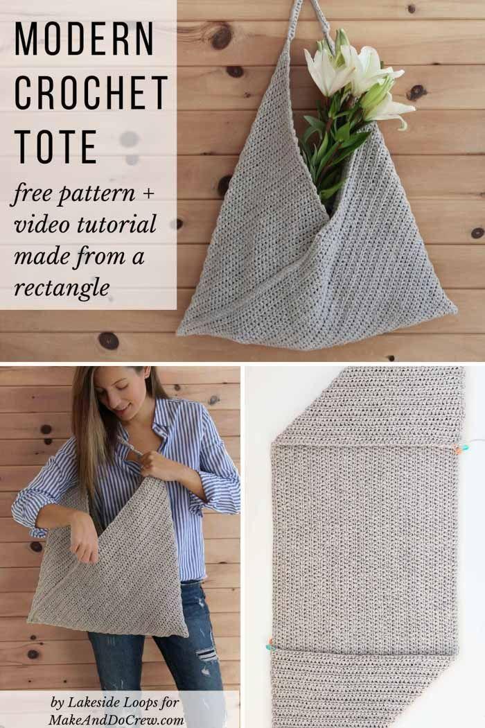 Beginner Crochet Tote Bag – Free Modern Pattern for Spring + Summer – Pin Coffee