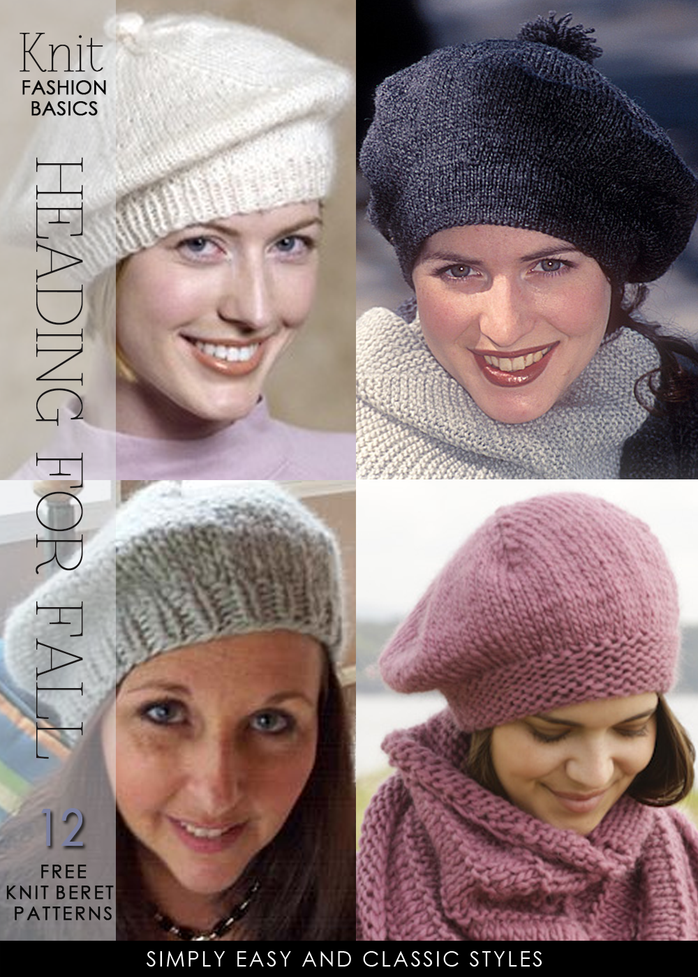 Berets heading for fall – lots of free patterns to knit and crochet – DiaryofaCr…
